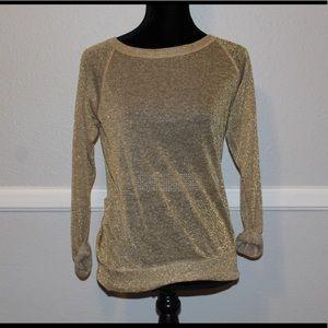 Bailey44 Sheer Gold Long Sleeve Shirt